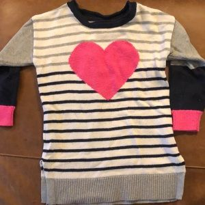Hearts and striped GAP sweater